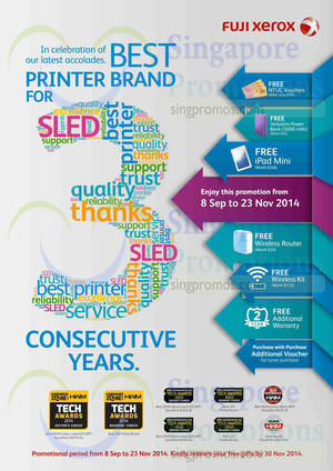 Featured image for Fuji Xerox Printer Offers 8 Sep – 23 Nov 2014