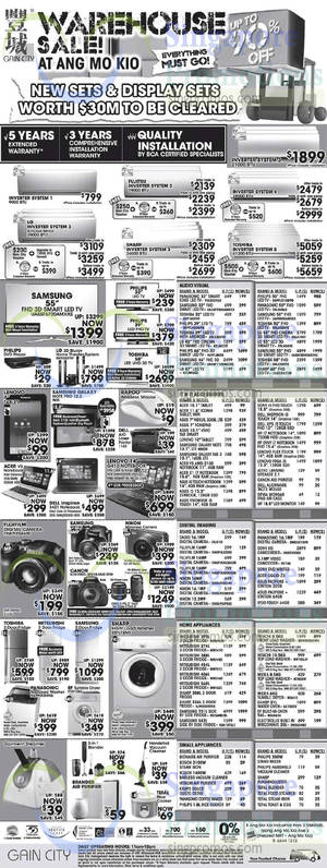 Featured image for Gain City Electronics, TVs, Washers, Digital Cameras & Other Offers 20 Sep 2014
