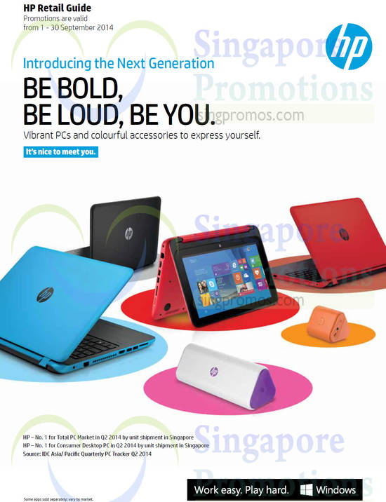 Featured image for HP Notebooks, Desktop PCs & Accessories Promotion Offers 1 - 30 Sep 2014