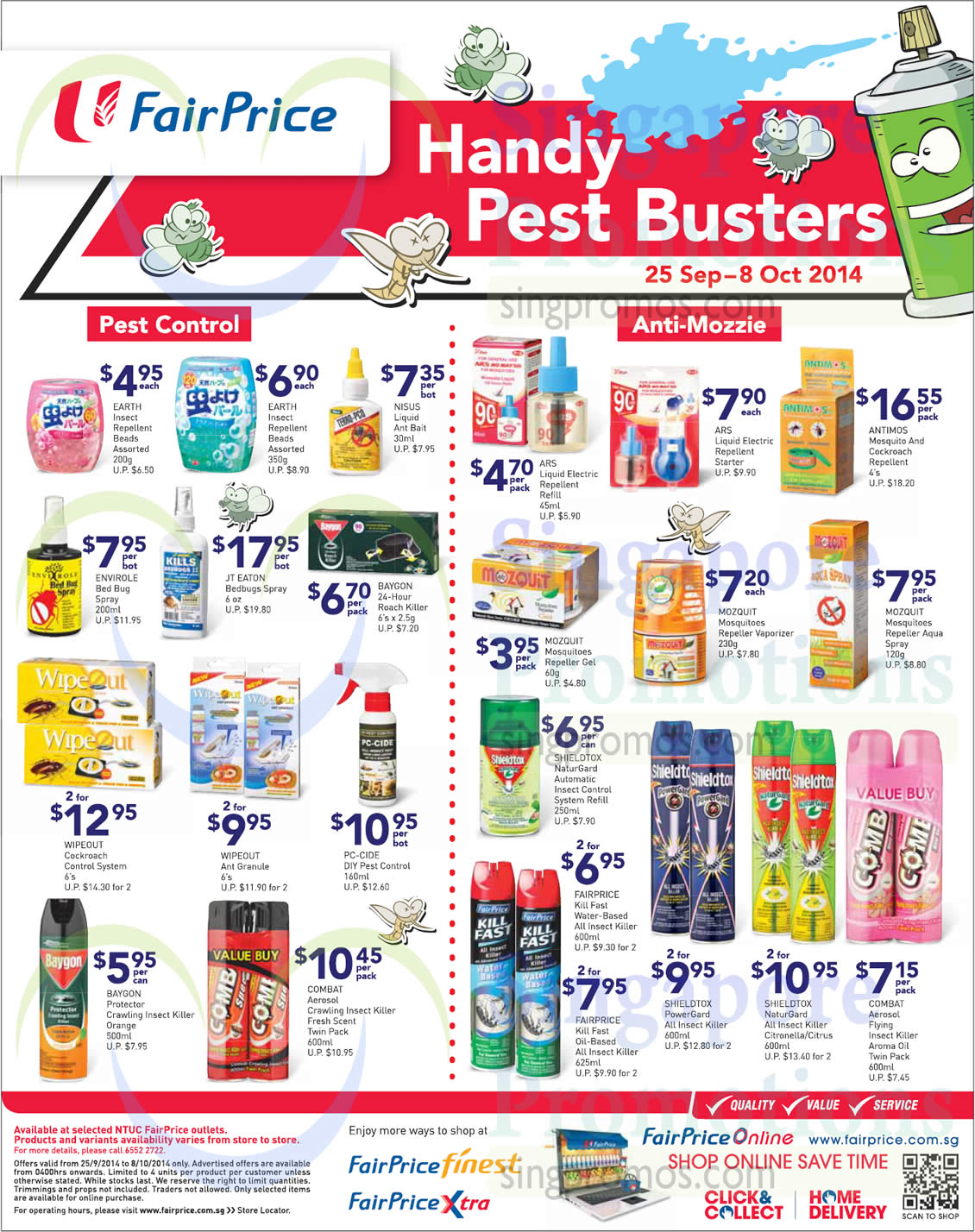 Handy Pest Busters Wipeout Baygon Combat Mozquit Antimos Ars