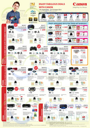 Featured image for Canon Inkjet & Laser Printers & Scanners Promotion Offers 17 Sep – 31 Oct 2014