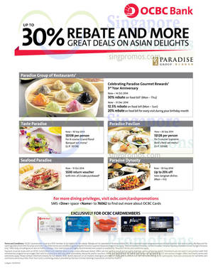 Featured image for OCBC Cardmembers Up To 30% OFF Asian Delights 15 Sep 2014