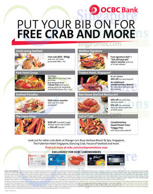 Featured image for OCBC Crab Deals & Offers 3 Sep 2014