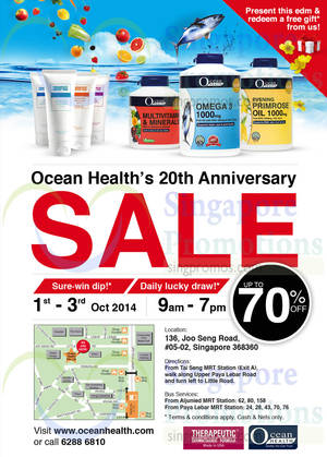 Featured image for Ocean Health 20th Anniversary Sale 1 – 3 Oct 2014