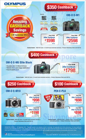 Featured image for Olympus Digital Camera Offers 1 – 30 Sep 2014