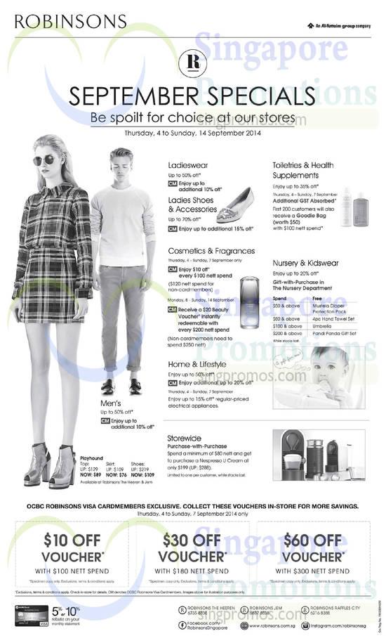 Robinsons September Specials 4 Sep 2014