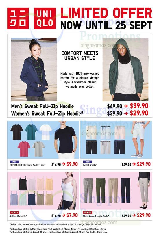 Sweat Full-Zip Hoodie, Supima Cotton, Shorts, Pants, Camisole