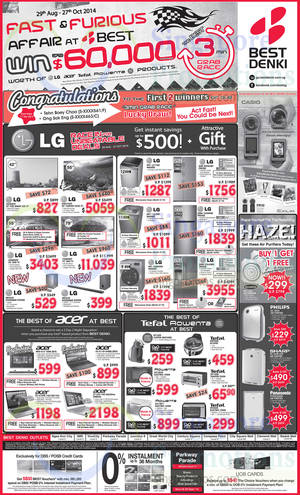 Featured image for Best Denki TV, Appliances & Other Electronics Offers 26 – 29 Sep 2014