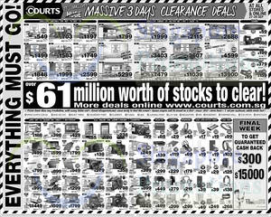 Featured image for Courts Massive Clearance Offers 27 – 29 Sep 2014