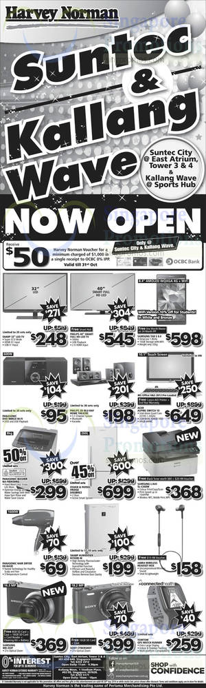 Featured image for Harvey Norman Digital Cameras, Appliances & Electronics Offers 20 – 26 Sep 2014