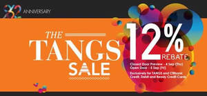 Featured image for Tangs 12% Rebate SALE For Citibank & Tangs Cardmembers 4 – 5 Sep 2014