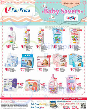 Featured image for NTUC Fairprice Baby Savers, IT Gadgets, Lightings & Pest Busters Offers 25 Sep – 8 Oct 2014