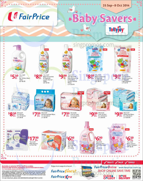 Featured image for NTUC Fairprice Baby Savers, IT Gadgets, Lightings & Pest Busters Offers 25 Sep - 8 Oct 2014