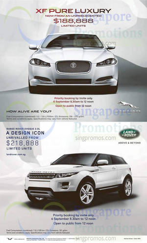 Featured image for Jaguar XF & Range Rover Evoque Offer 6 Sep 2014