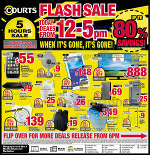 Featured image for Courts Flash Sale Up To 80% Off 1-Day Offers 24 Oct 2014
