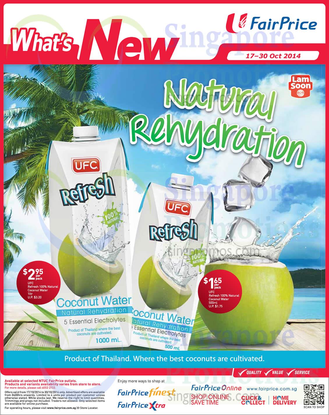 17 Oct UFC Refresh Coconut Water