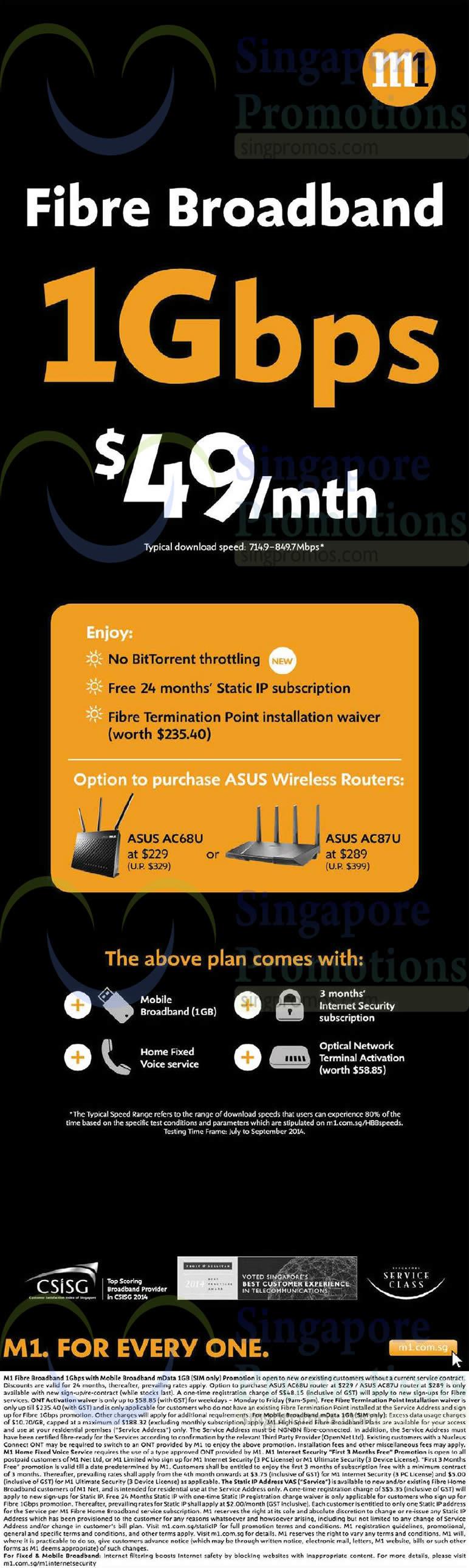 49.00 1Gbps Fibre Broadband