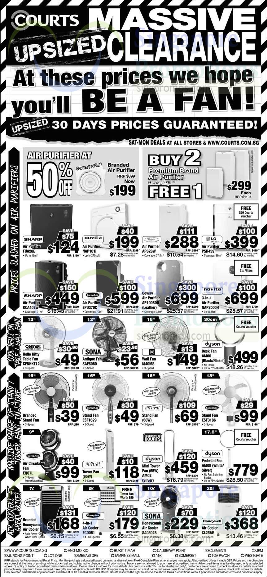 Air Purifiers Air Coolers Fans Sharp Novita Coway
