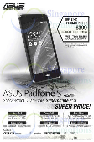 Featured image for Asus Padfone S Smartphone Promotion 18 Oct – 2 Nov 2014