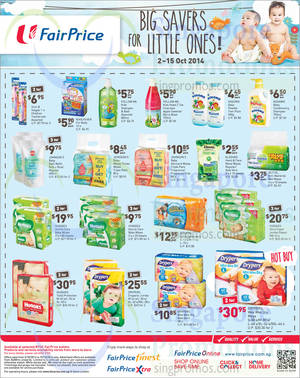 Featured image for NTUC Fairprice Electronics, Groceries, Baby Products & Wine Offers 2 – 15 Oct 2014