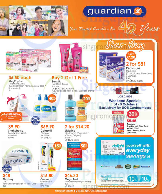 Beauty Products, Health Products, Star Buy, UOB Delight, Cetaphil, Pediasure, Mega Red, Shokubutsu