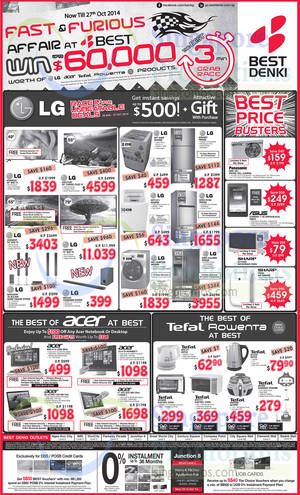 Featured image for Best Denki TV, Appliances & Other Electronics Offers 10 – 13 Oct 2014