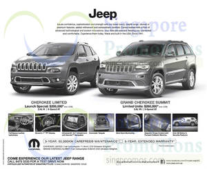Featured image for Chrysler Jeep Cherokee Limited & Grand Cherokee Summit Offers 11 Oct 2014
