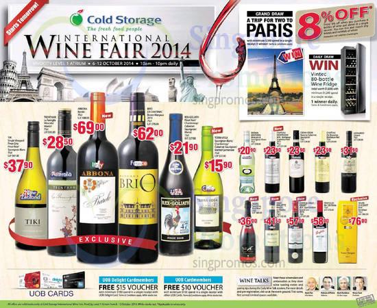 Featured image for Cold Storage International Wine Fair @ Vivocity 6 - 12 Oct 2014