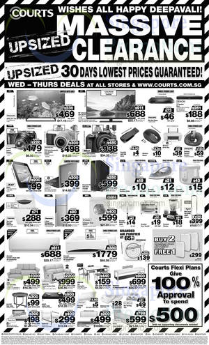 Featured image for Courts Massive Clearance Upsized 2-Day Offers 22 – 23 Oct 2014