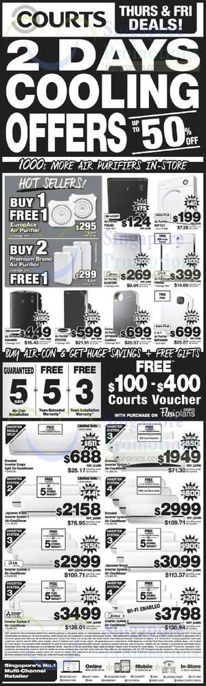 Featured image for Courts 2-Days Cooling Appliances Offers 9 – 10 Oct 2014