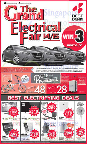 Featured image for Best Denki Grand Electrical Fair Offers 31 Oct – 3 Nov 2014