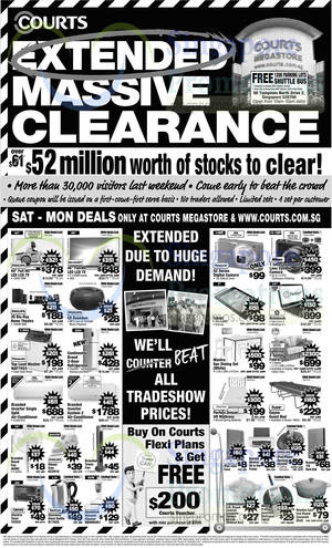 Featured image for Courts Extended Massive Clearance Offers 4 – 7 Oct 2014