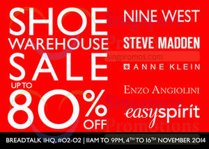 Featured image for GRI Accessories Shoe Warehouse Sale 4 – 16 Nov 2014