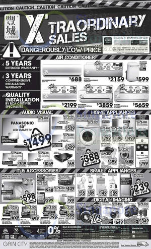 Featured image for Gain City Electronics, TVs, Washers, Digital Cameras & Other Offers 4 Oct 2014