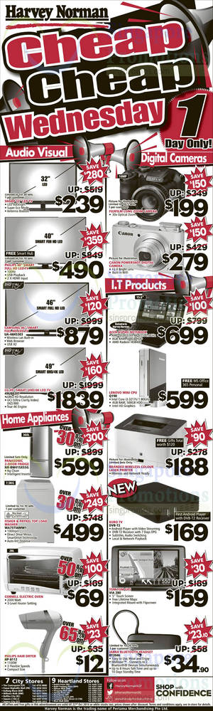 Featured image for Harvey Norman Deepavali 1-Day Offers 22 Oct 2014