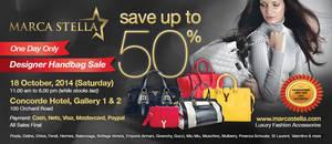 Featured image for Marca Stella Designer Handbags Sale @ Concorde Hotel 18 Oct 2014