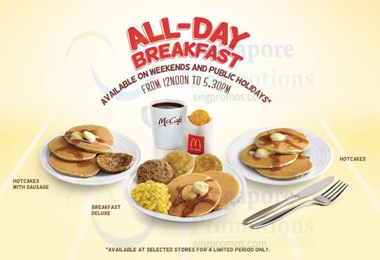 McDonalds All Day Breafkast 4 Oct 2014