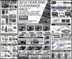Featured image for Mega Discount Store TVs, Appliances & Air Conditioner Offers 18 Oct 2014