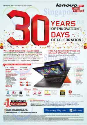 Featured image for Lenovo Notebooks & Desktop PC Offers 1 – 31 Oct 2014