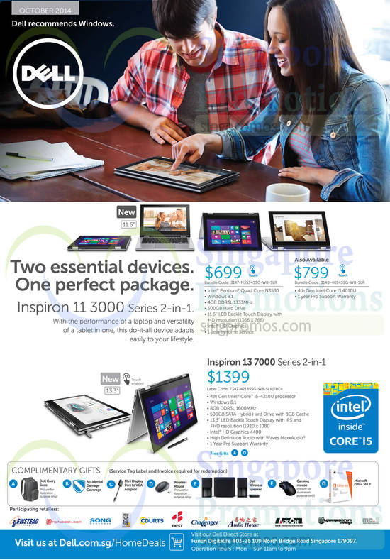 Featured image for Dell Notebooks, Desktop PCs & Monitors Offers 1 - 31 Oct 2014