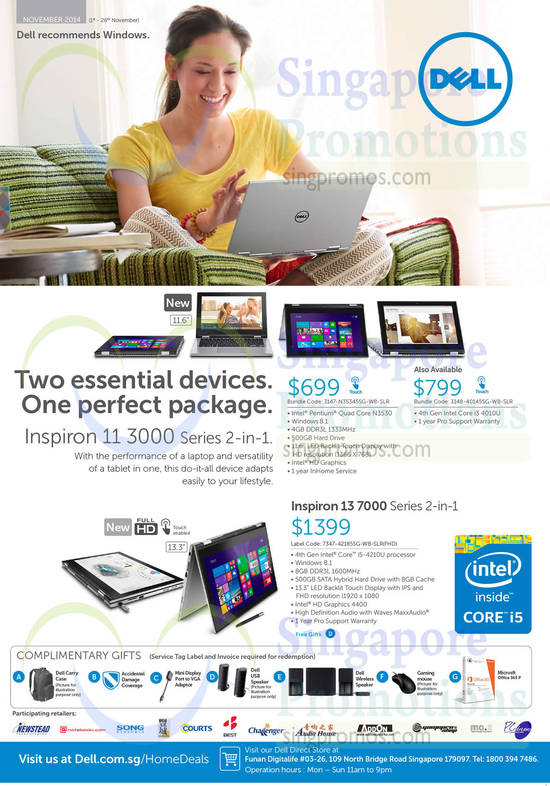 Featured image for Dell Notebooks, Desktop PCs & Monitors Offers 1 - 26 Nov 2014