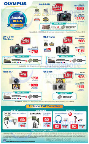 Featured image for Olympus Digital Camera Offers 1 – 31 Oct 2014