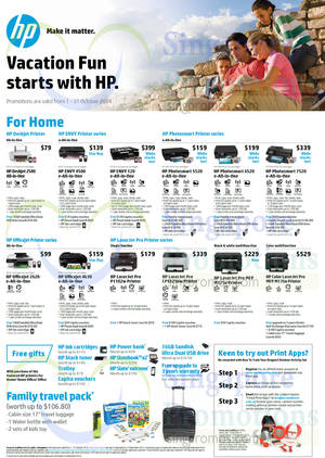Featured image for HP Printers & Scanners Promotion Offers 1 – 31 Oct 2014