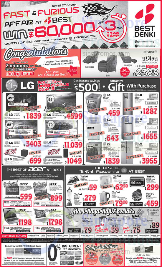 Featured image for Best Denki TV, Appliances & Other Electronics Offers 3 - 6 Oct 2014