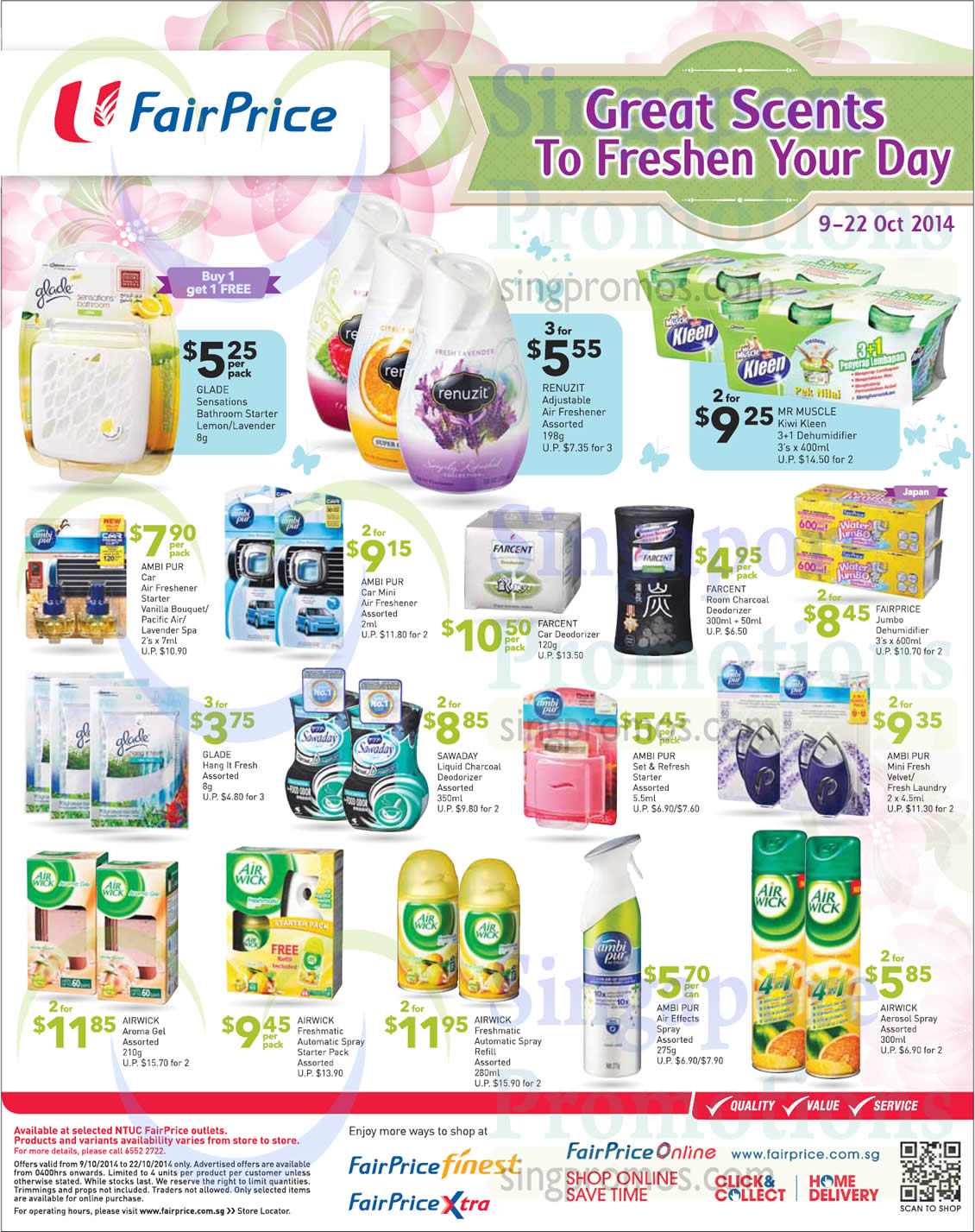 (Till 22 Oct)Scents Glade, Mr.Muscle, Ambi Pur, Airwick, Renuzit, Farcent, Chilled Goodies, Gift Hampers