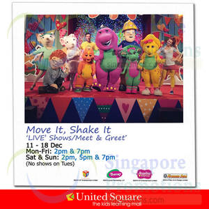 Featured image for United Square Move It, Shake It 'Live' Show 11 – 18 Dec 2014