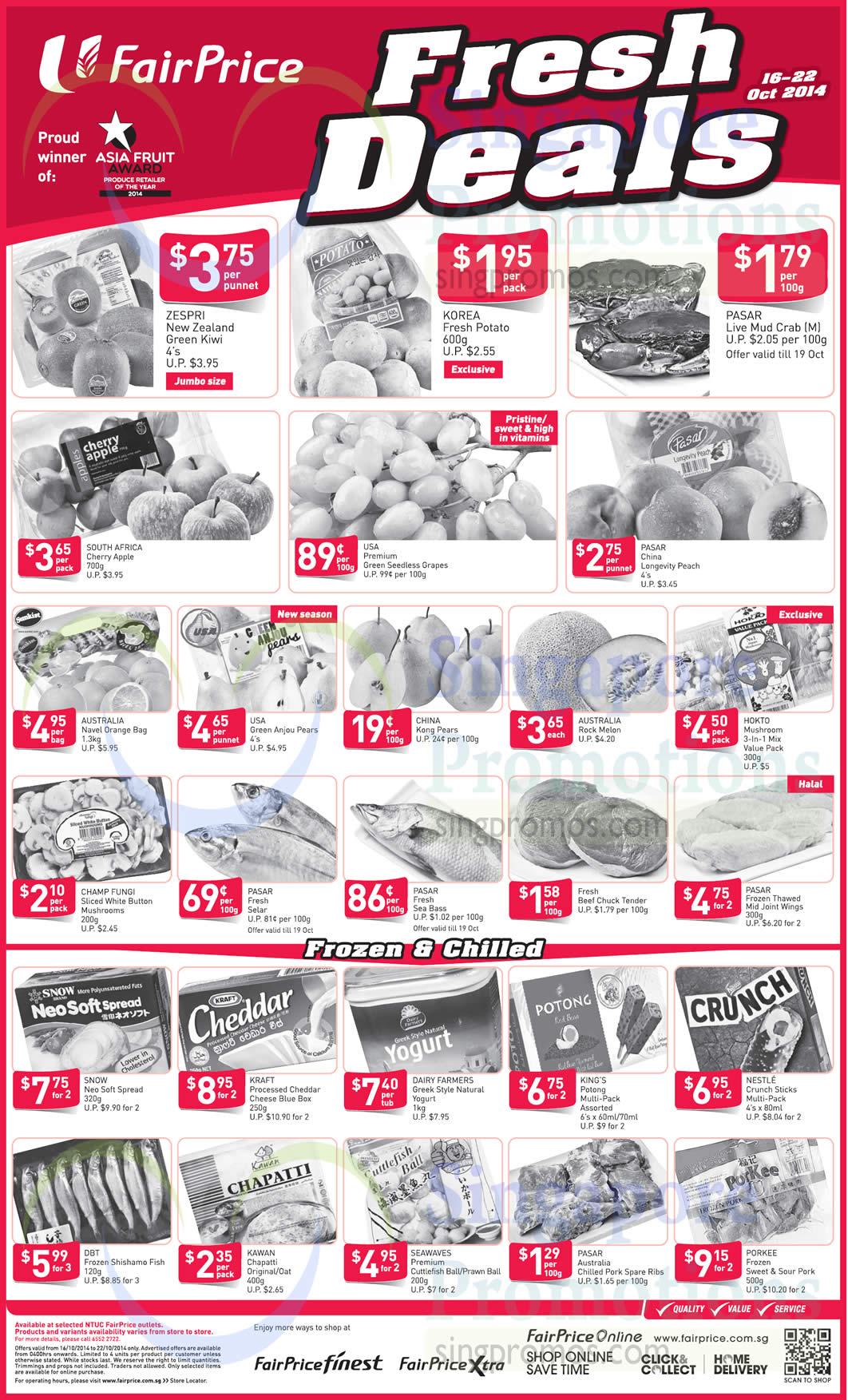 (Until 22 Oct) Fresh Deals Vegetables, Fruits, Frozen, Chilled