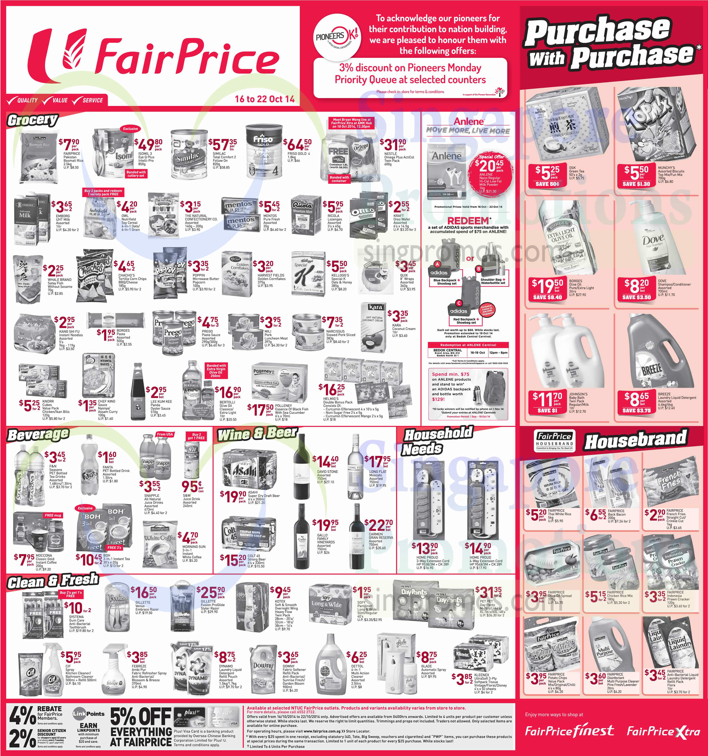 (Until 22 Oct) Grocery, Beverage, Wines, Household Needs, Purchas With Purchase, Housebrand Products