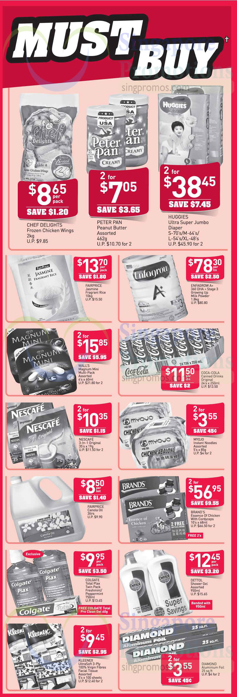 (Until 22 Oct) Must Buy Chef Delights, Peter Pan, Huggies, Enfagrow, Coca Cola, Magnum