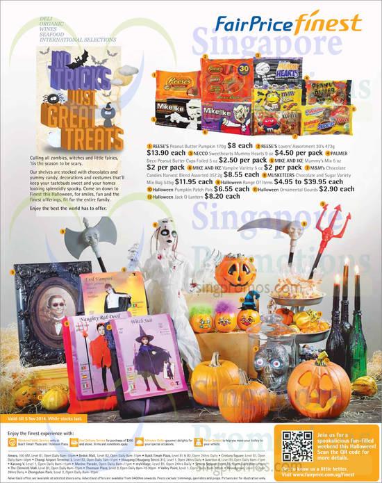 (Until 5 Nov) Halloween Pumpkins, Ornamental Gourds, Jack O Lantern, Chocolate Candies